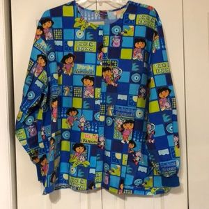 Dora the Explorer scrub jacket